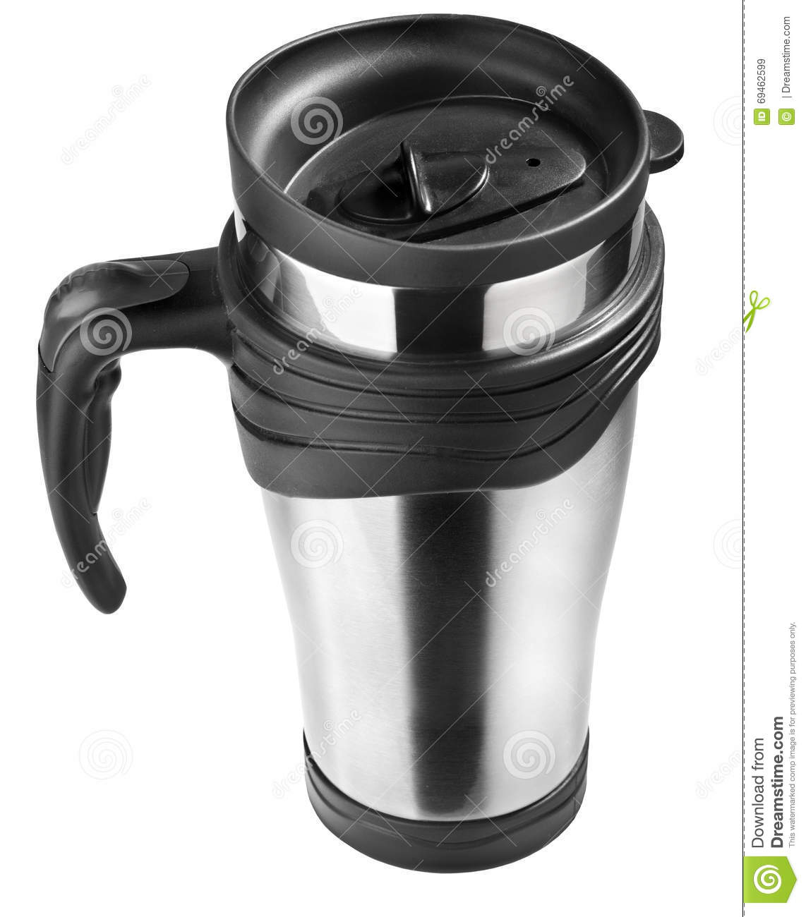 Thermo Mug isolated on white, steel cup