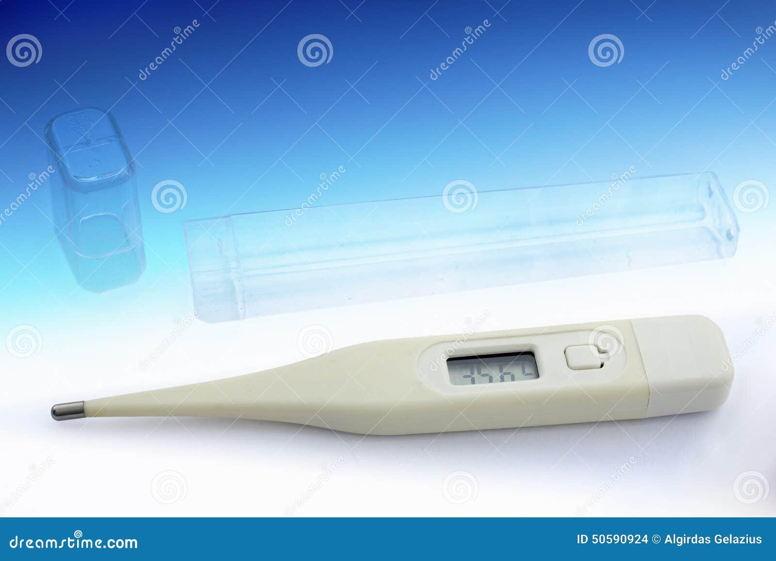 Thermomètre électronique avec le cas