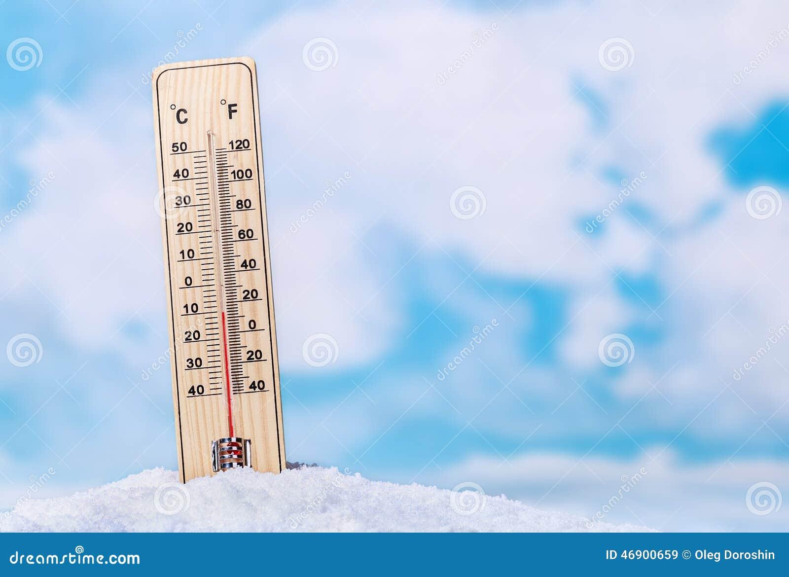 Thermomètre dans la neige