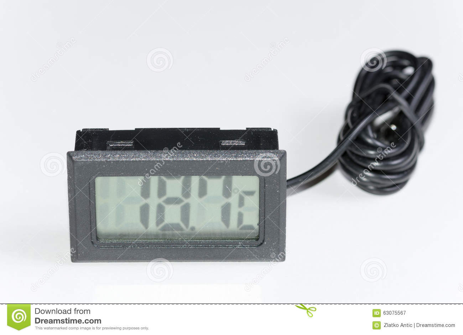 Download Thermomètre Numérique En Plastique Noir Image stock - Image du froid, thermomètre: 63075567