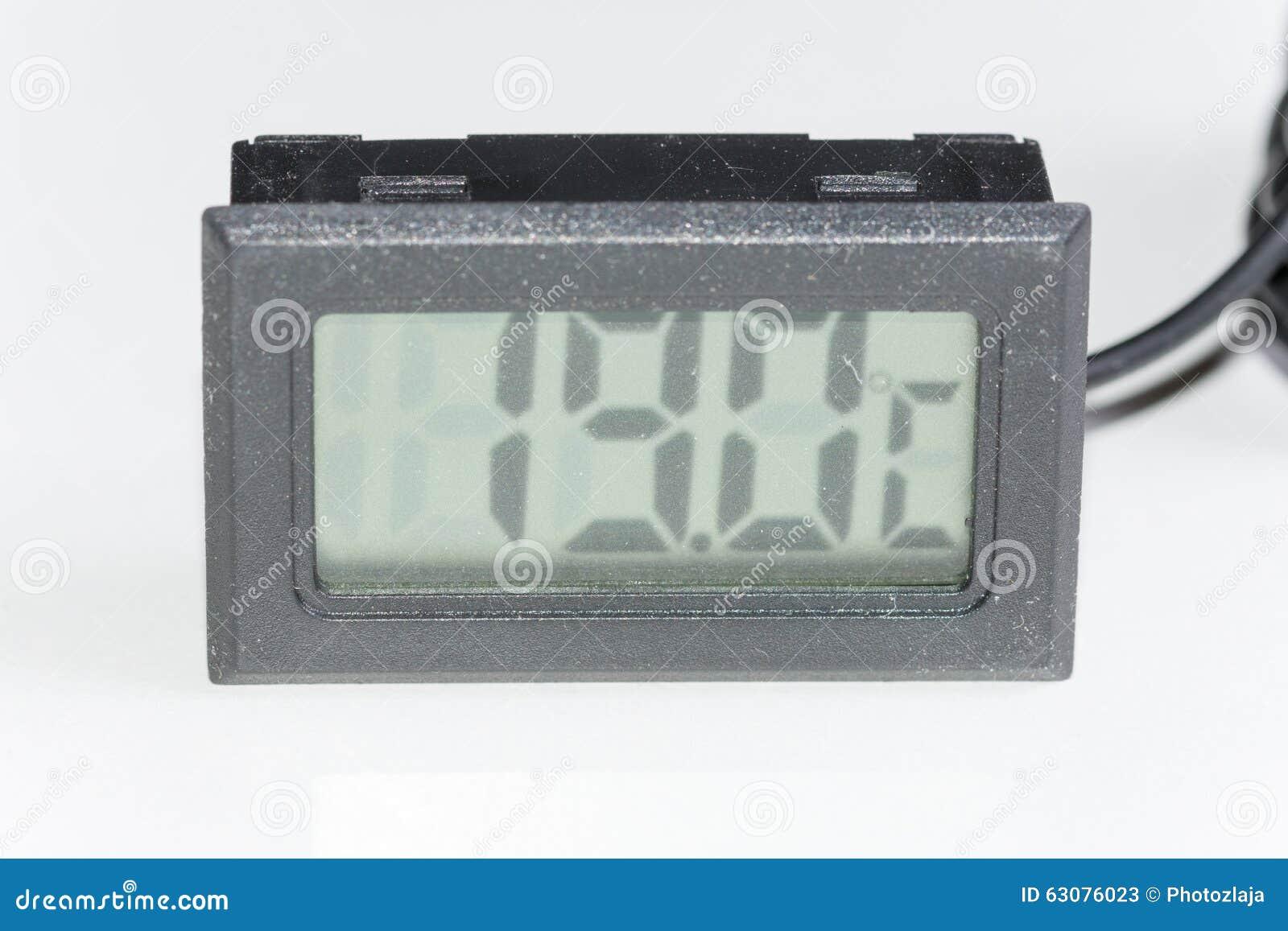Download Thermomètre Numérique En Plastique Noir Image stock - Image du digital, électronique: 63076023