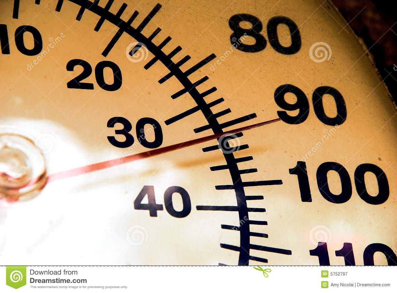 Thermometer at 92