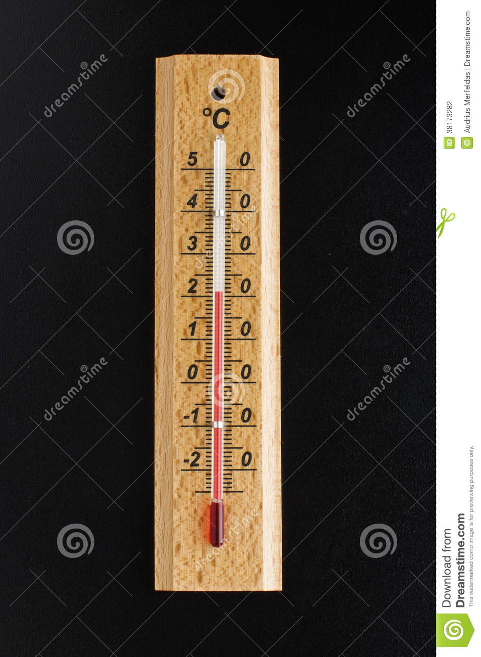 Thermometer On The Black Background Stock Photography