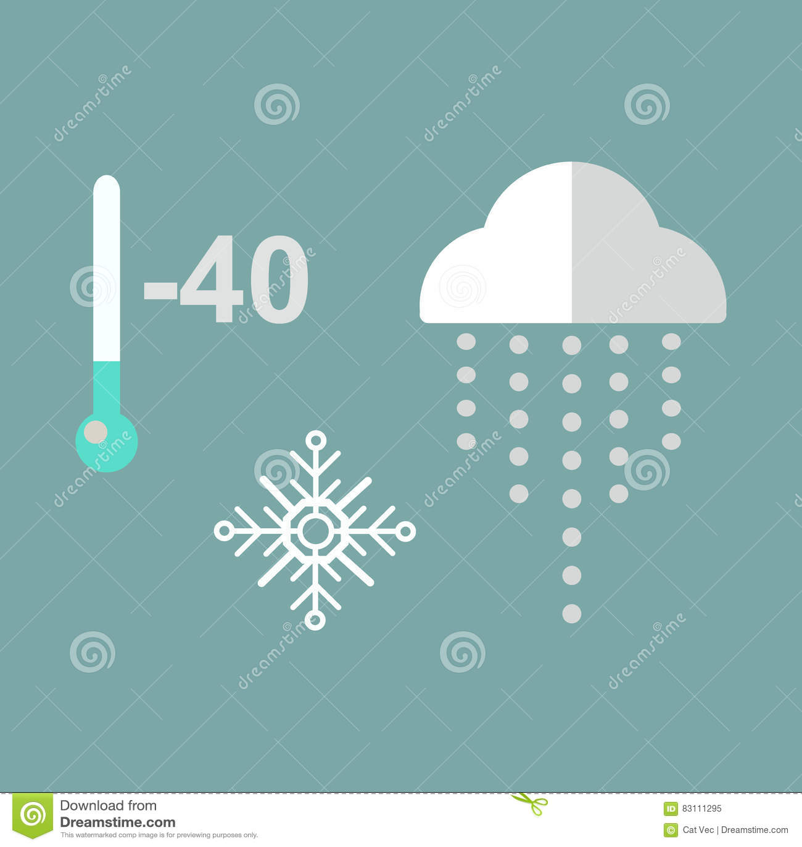 Thermometer Cold Temperature Vector Illustration Cartoon