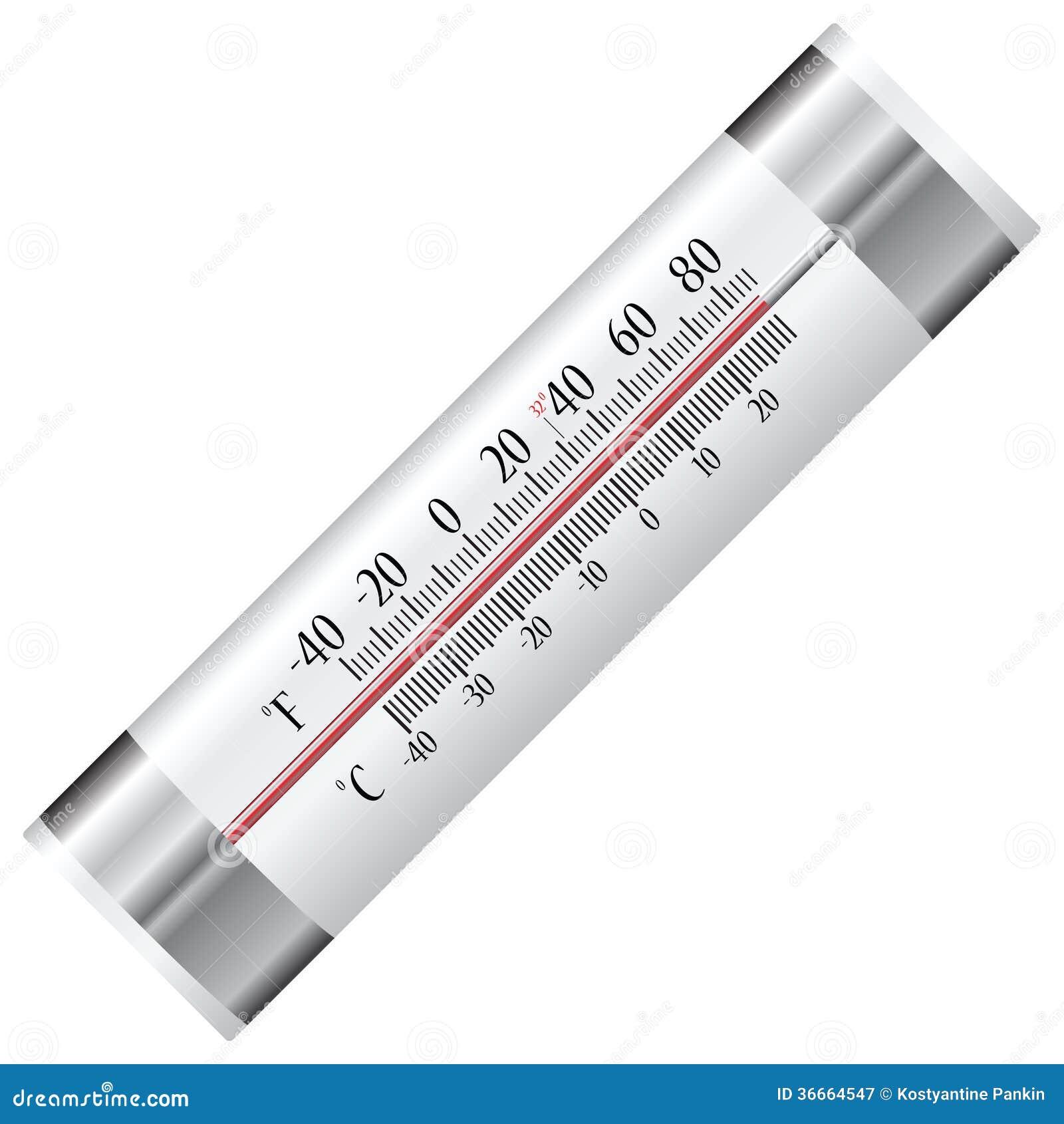thermometer f r k hlschrank vektor abbildung illustration von kalt nachricht 36664547. Black Bedroom Furniture Sets. Home Design Ideas