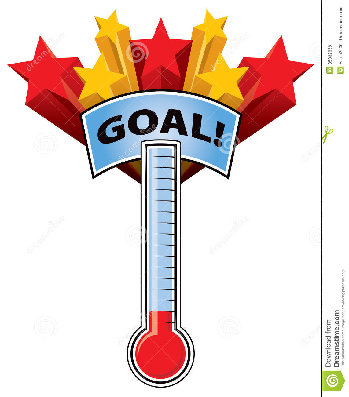 Empty goal thermometer thermometer goal royalty free
