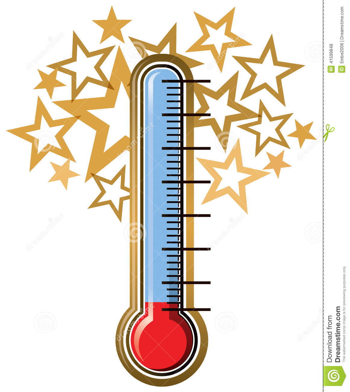 Thermometer Goal Stock Vector - Image: 41599848