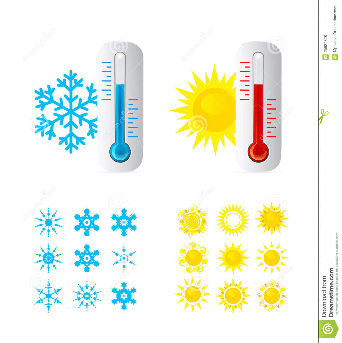 Thermometer Hot And Cold Temperature Royalty Free Stock