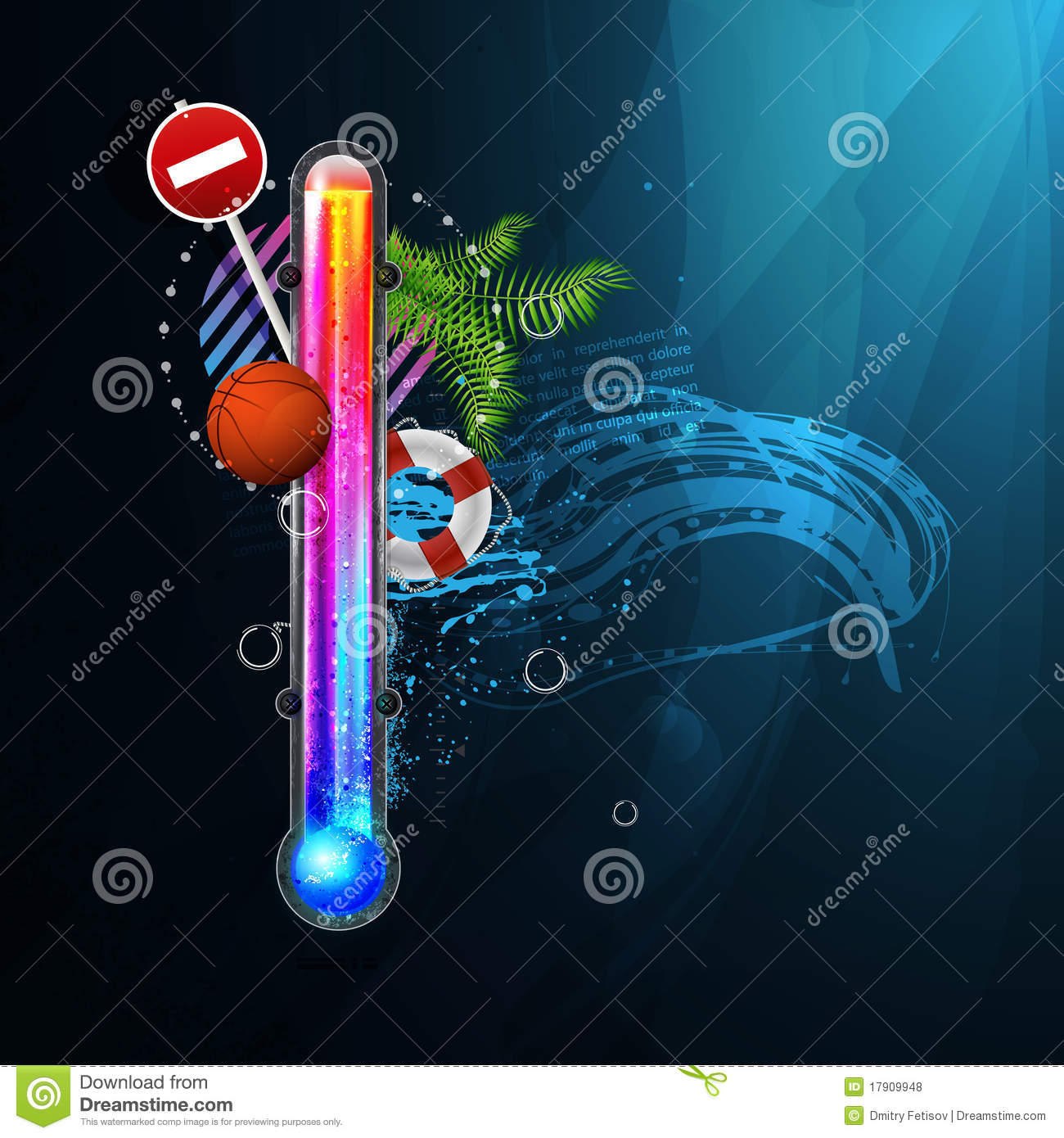 Thermometer Icon Of Hot And Cold Indicator. EPS10, Stock