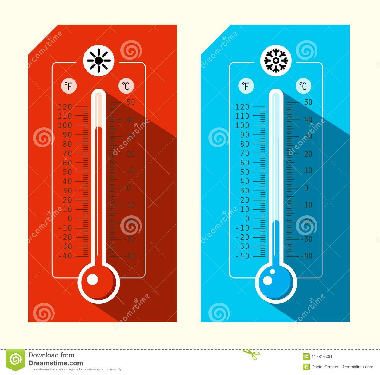 Thermometer Icons Set