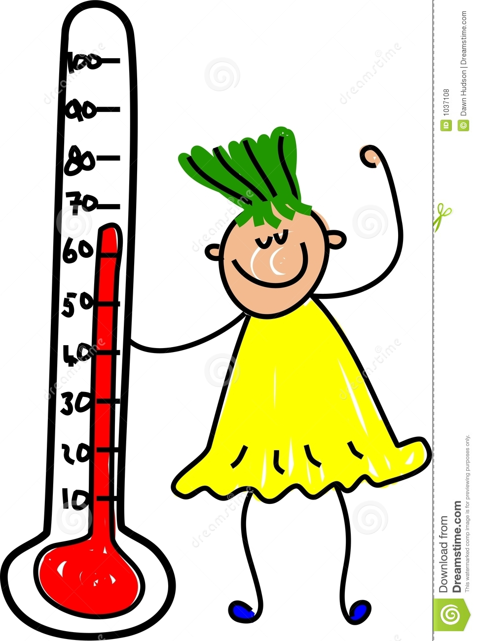 Thermometer Kid Royalty Free Stock Photos