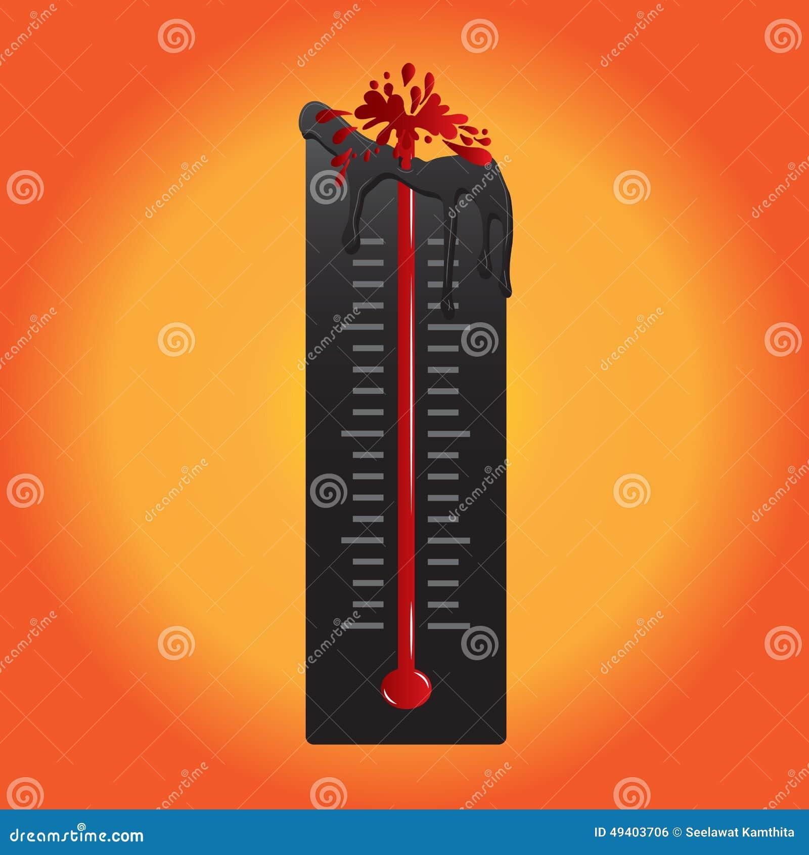 Download Thermometer-Schmelze Weil Heißluft Auch Im Corel Abgehobenen Betrag Vektor Abbildung - Illustration von grad, hoch: 49403706
