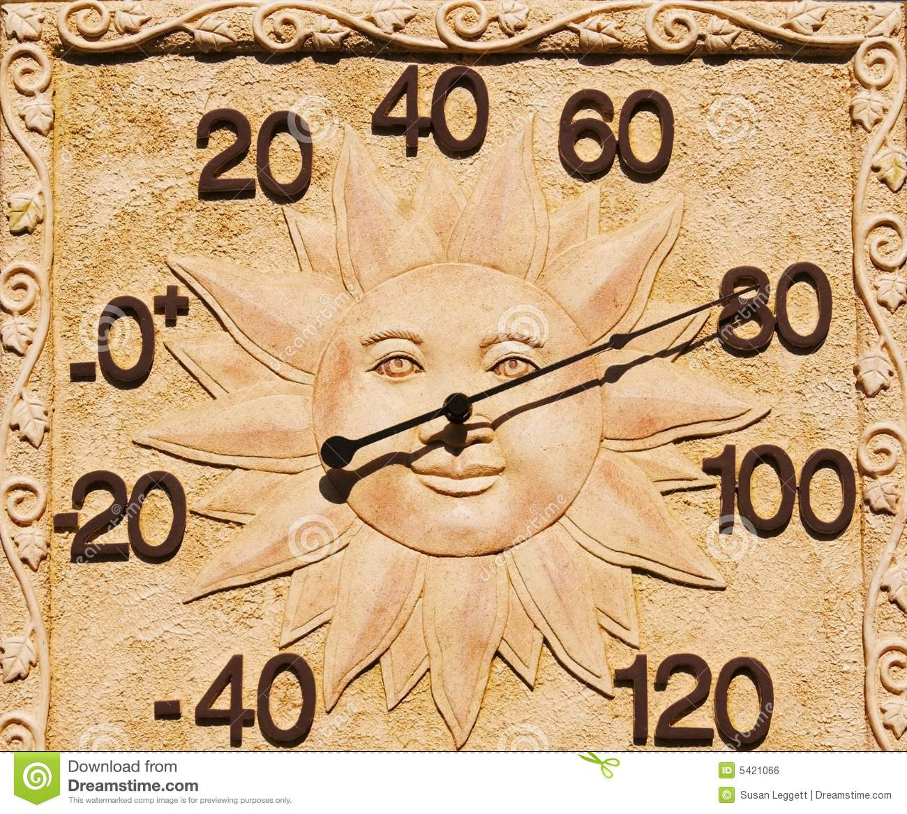 Thermometer With Sun Face