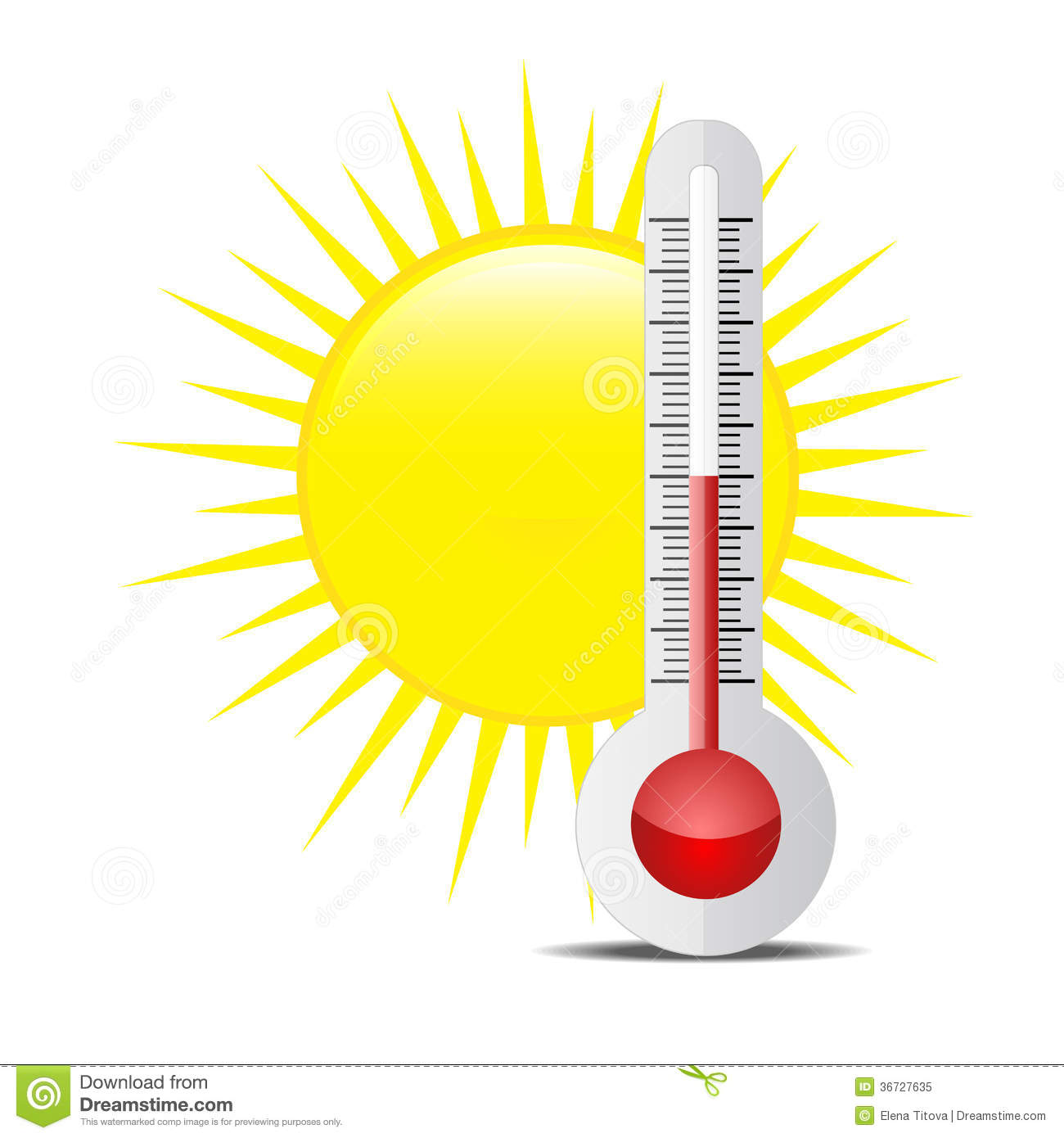 Thermometer With Sun Royalty Free Stock Photo Image