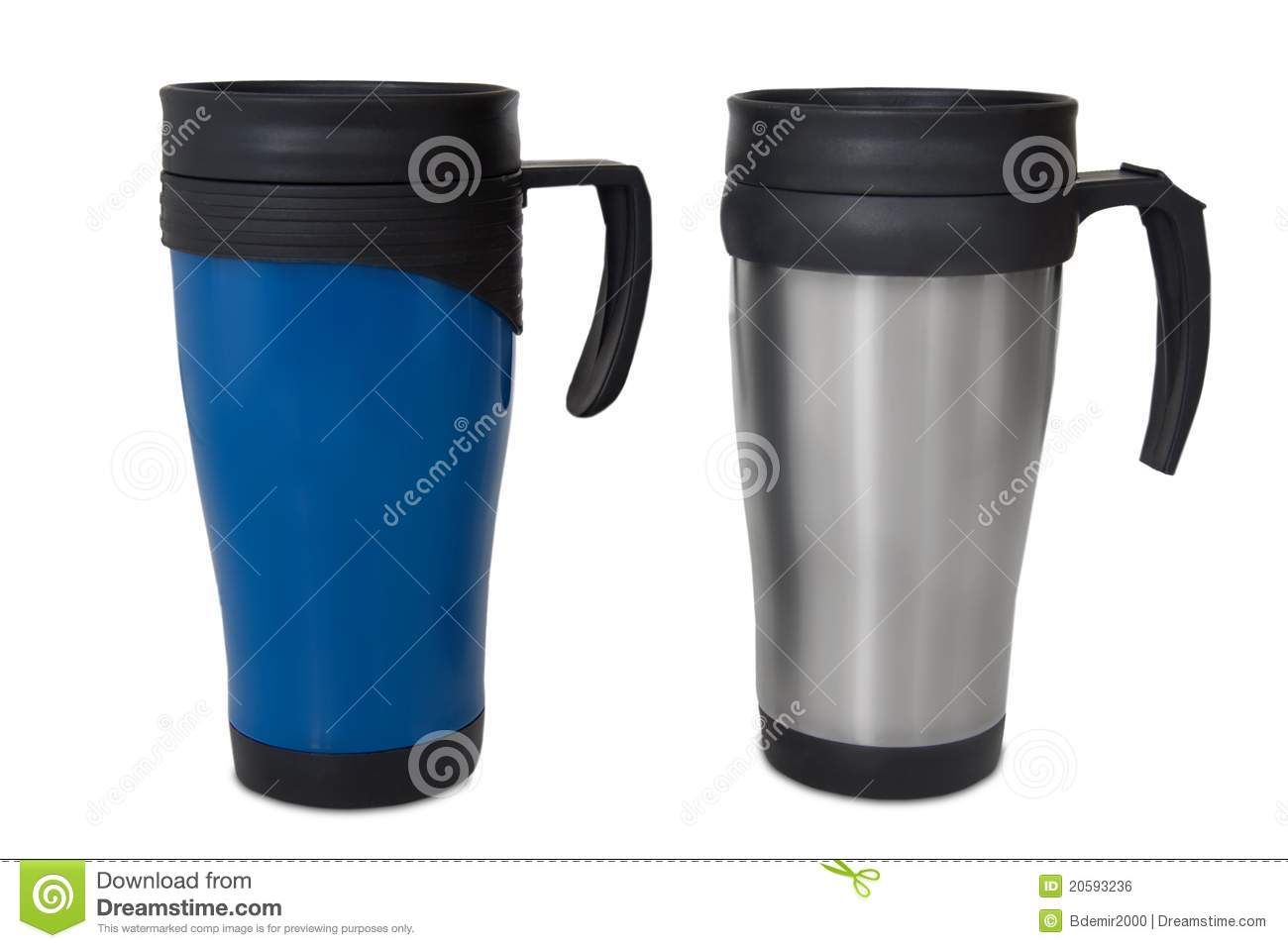 Thermos Mug Travel Plastic Cup Royalty Free Stock Image