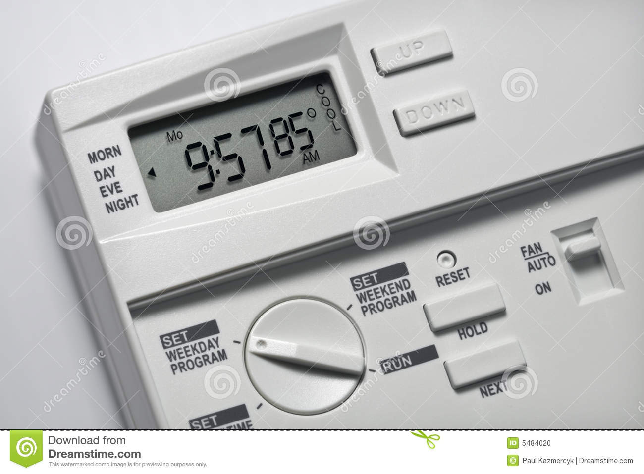 Thermostat 85 degrees cool stock photo image 5484020 for Heat setting for home