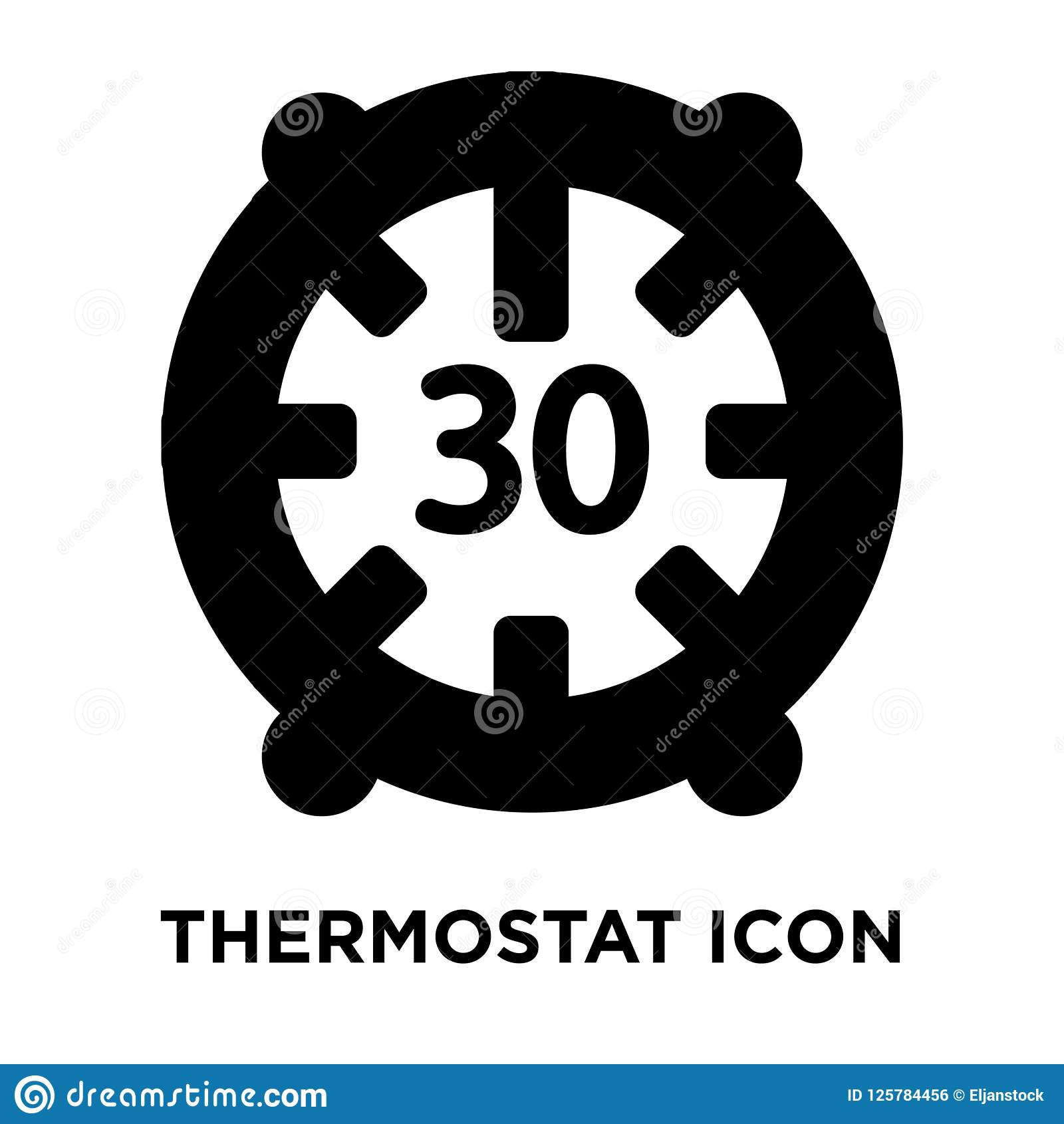 Thermostat Icon Vector Isolated On White Background Logo Concep