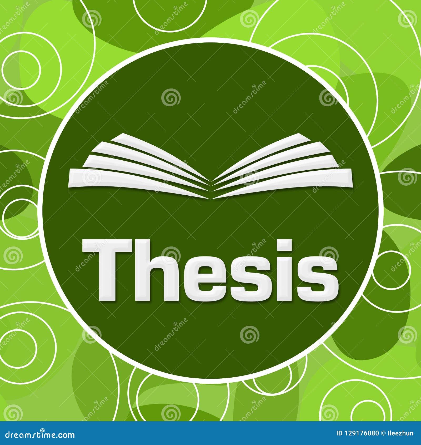 Thesis Green Random Rings Circle Stock Illustration - Illustration Of Blue,  Study: 129176080