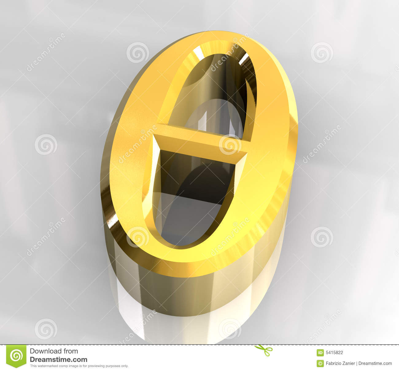 Theta symbol in gold 3d stock illustration illustration of hint theta symbol in gold 3d biocorpaavc Image collections