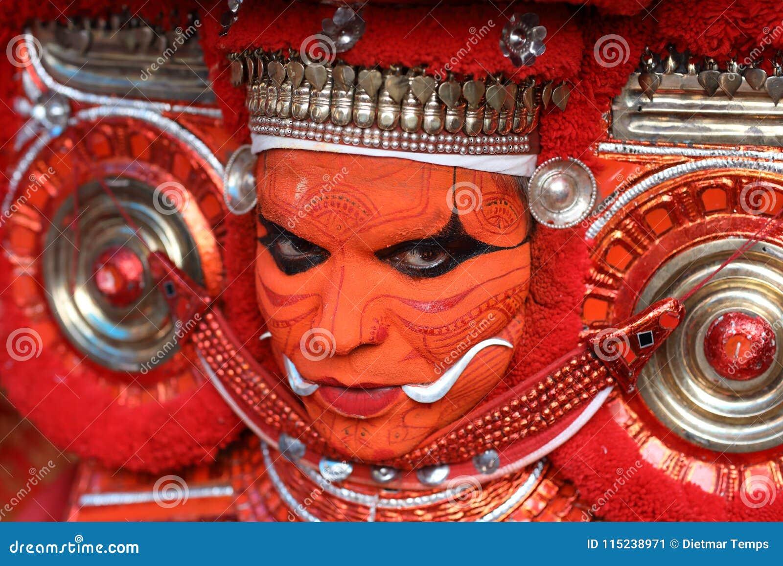 Theyyamdanser in Kannur, India