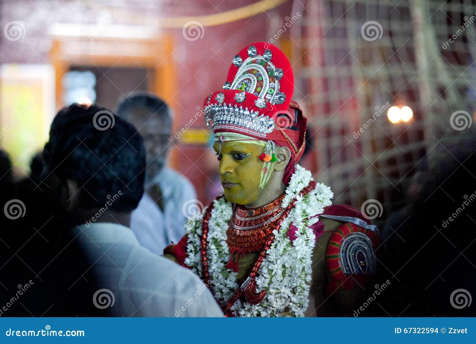 Theyyamritueel in Kerala, Zuid-India