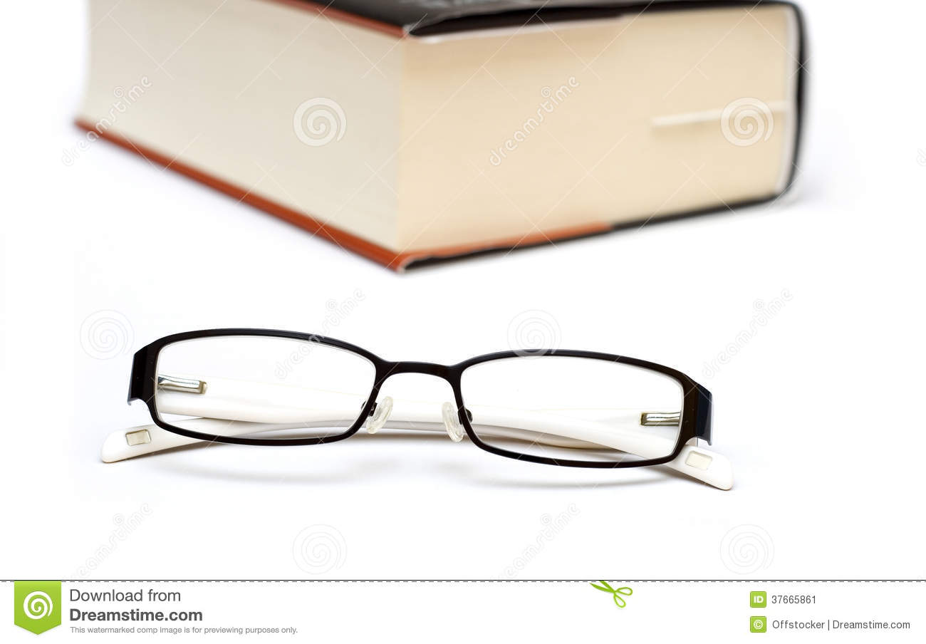 glasses on book - photo #31