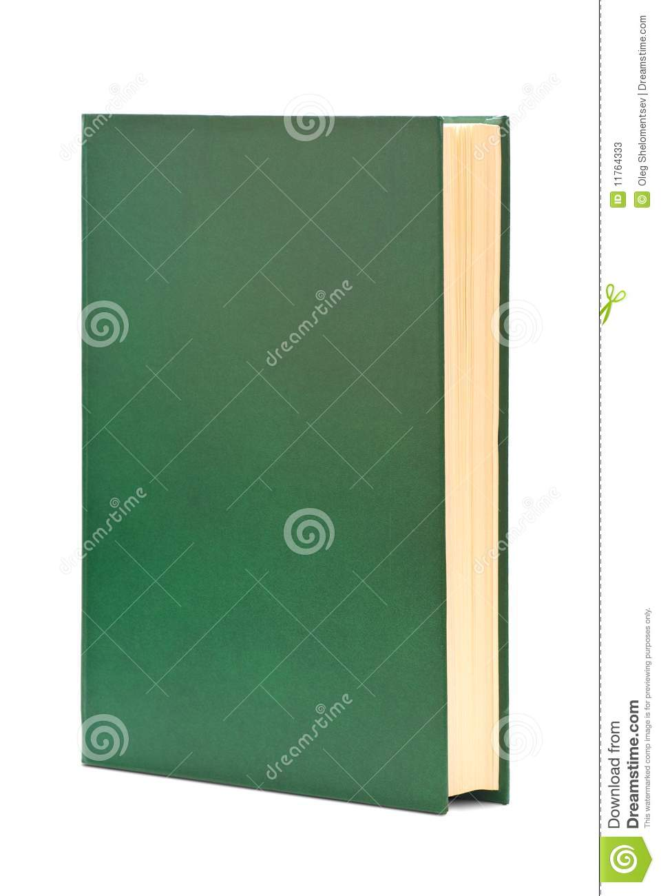 Cookbook With Green Cover : Thick book in green cover stock photos image