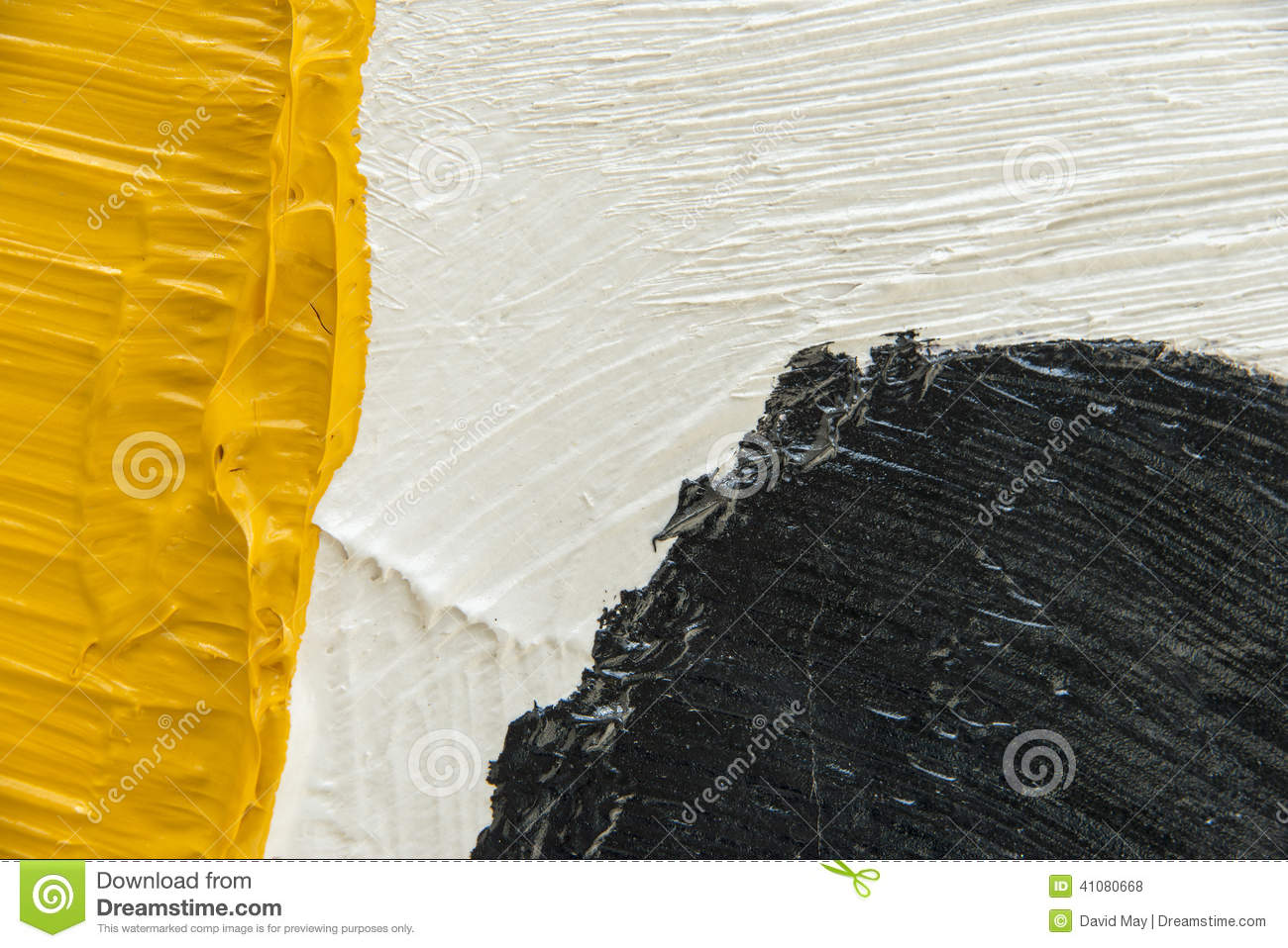 Thick paint brush strokes stock photo image of artists for White paint going yellow