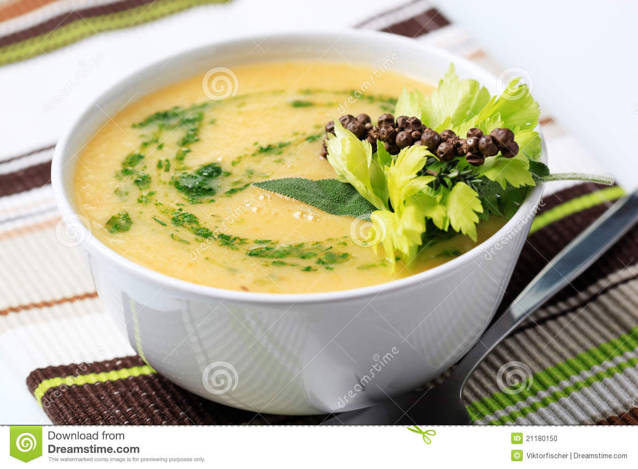 Thick Vegetable Soup Stock Photo - Image: 21180150