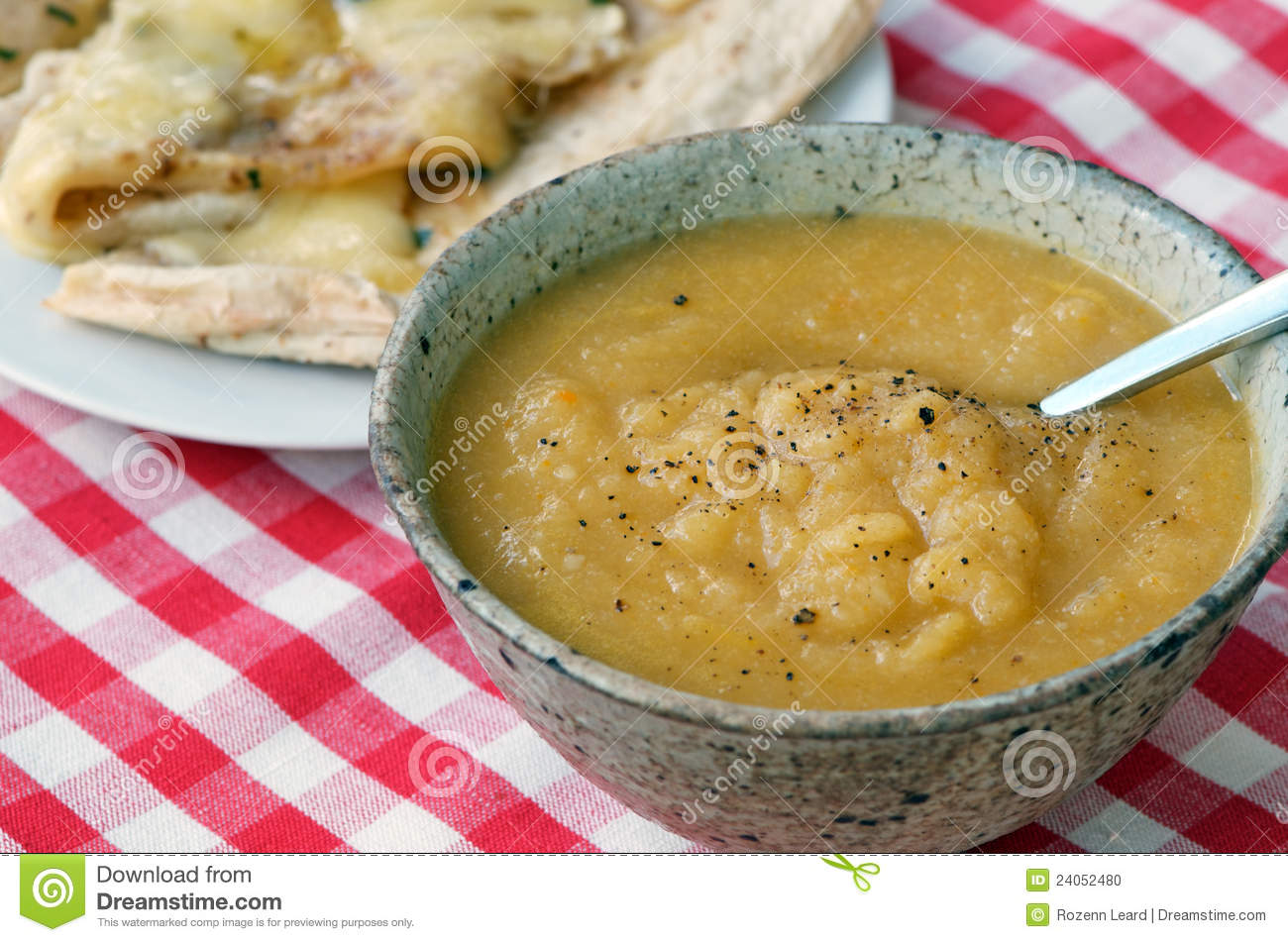 Thick Vegetable Soup Stock Photo - Image: 24052480