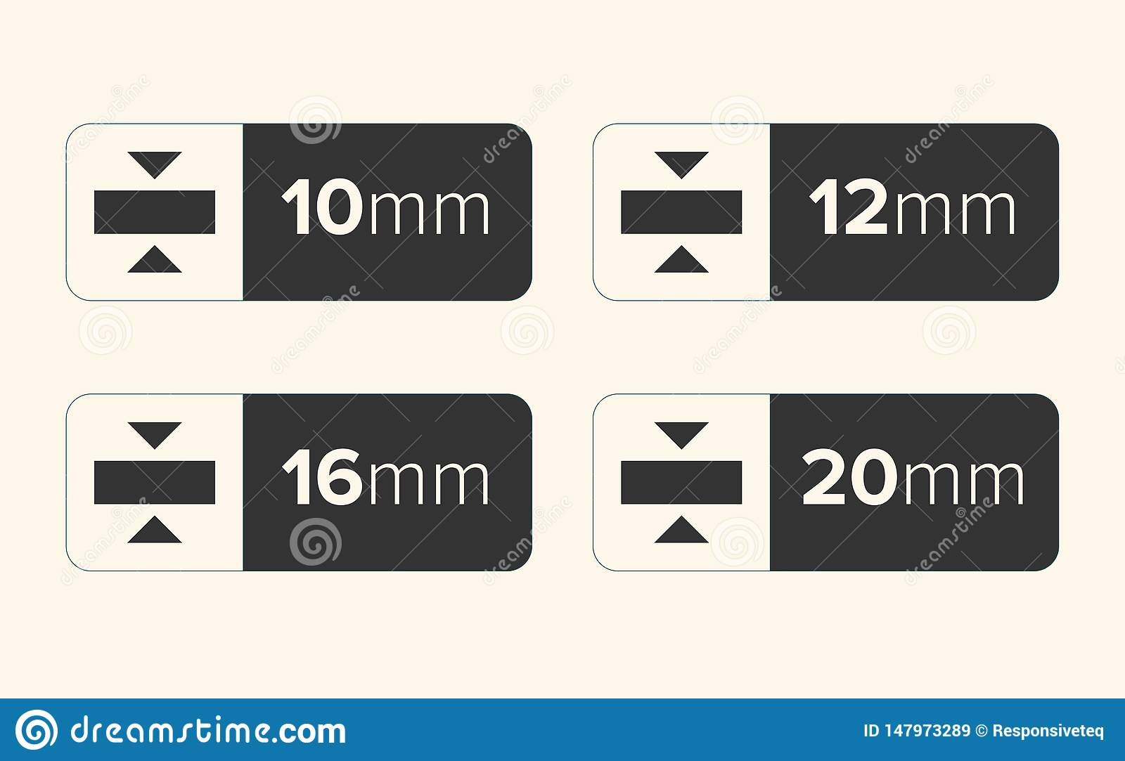 Thickness Icon, Thickness vector illustration - vector