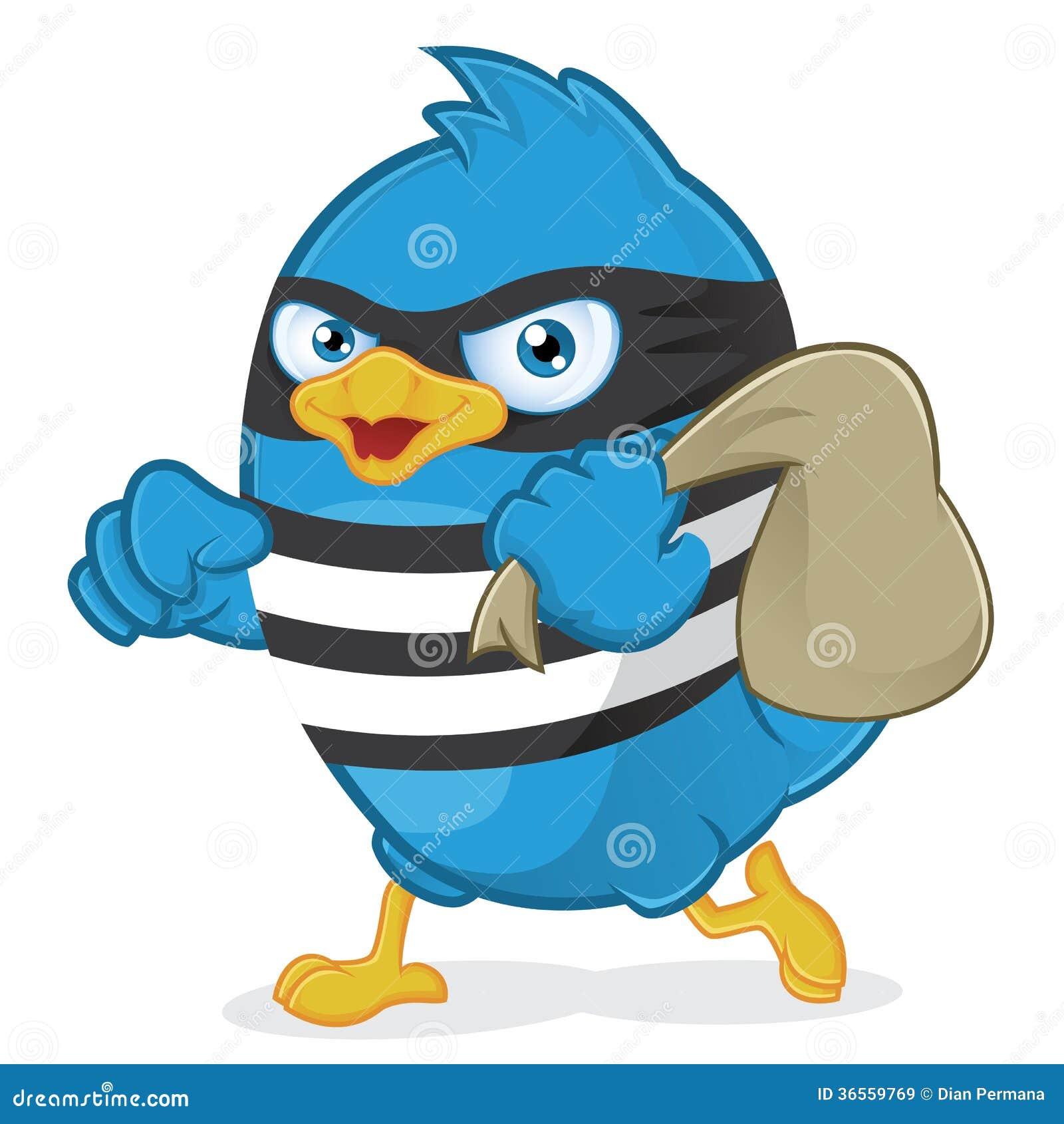 Thief Blue Bird Cartoon Vector Cartoondealer Com 36559769