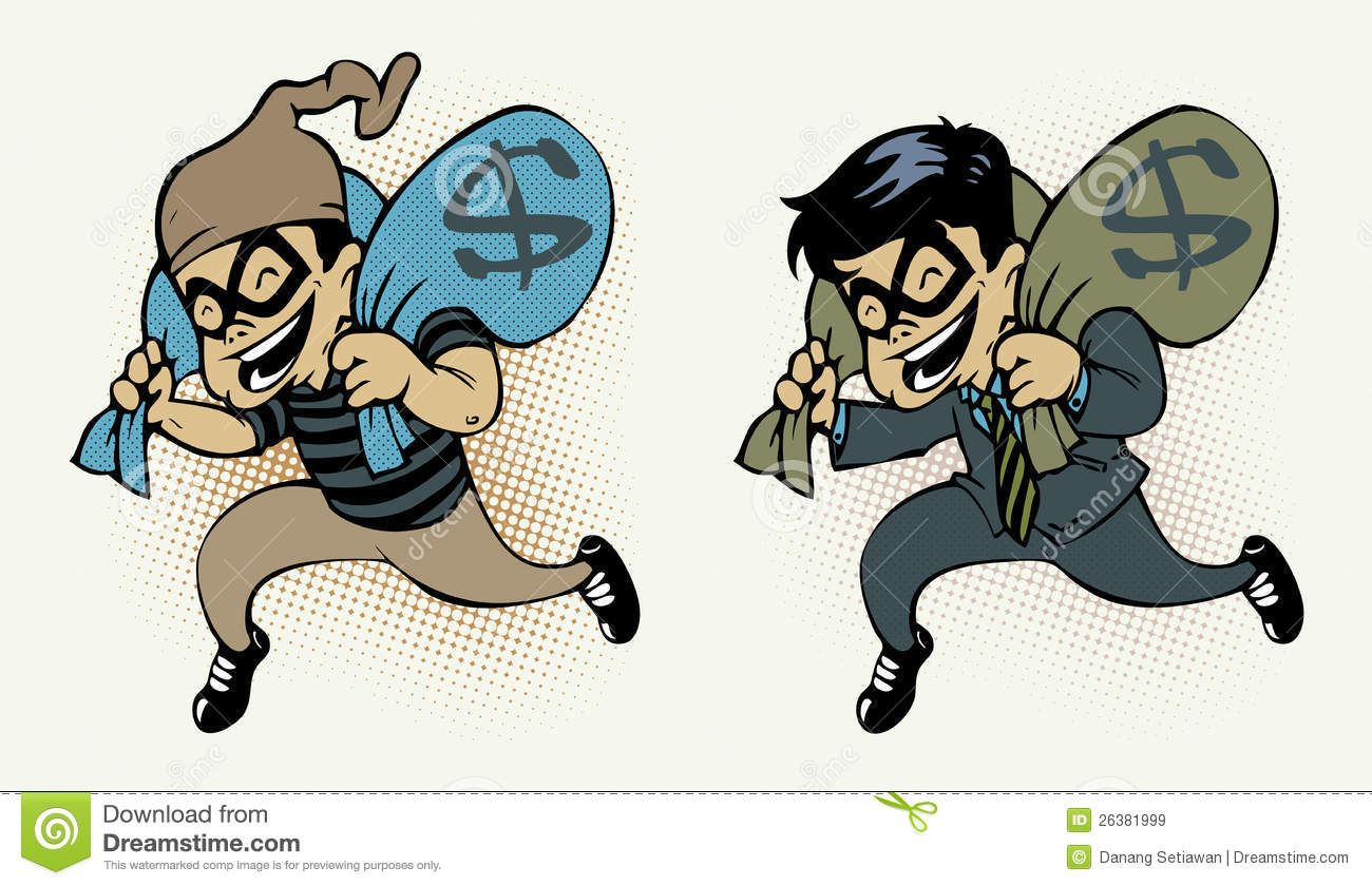 Thief Stealing Money Royalty Free Stock Images - Image ...