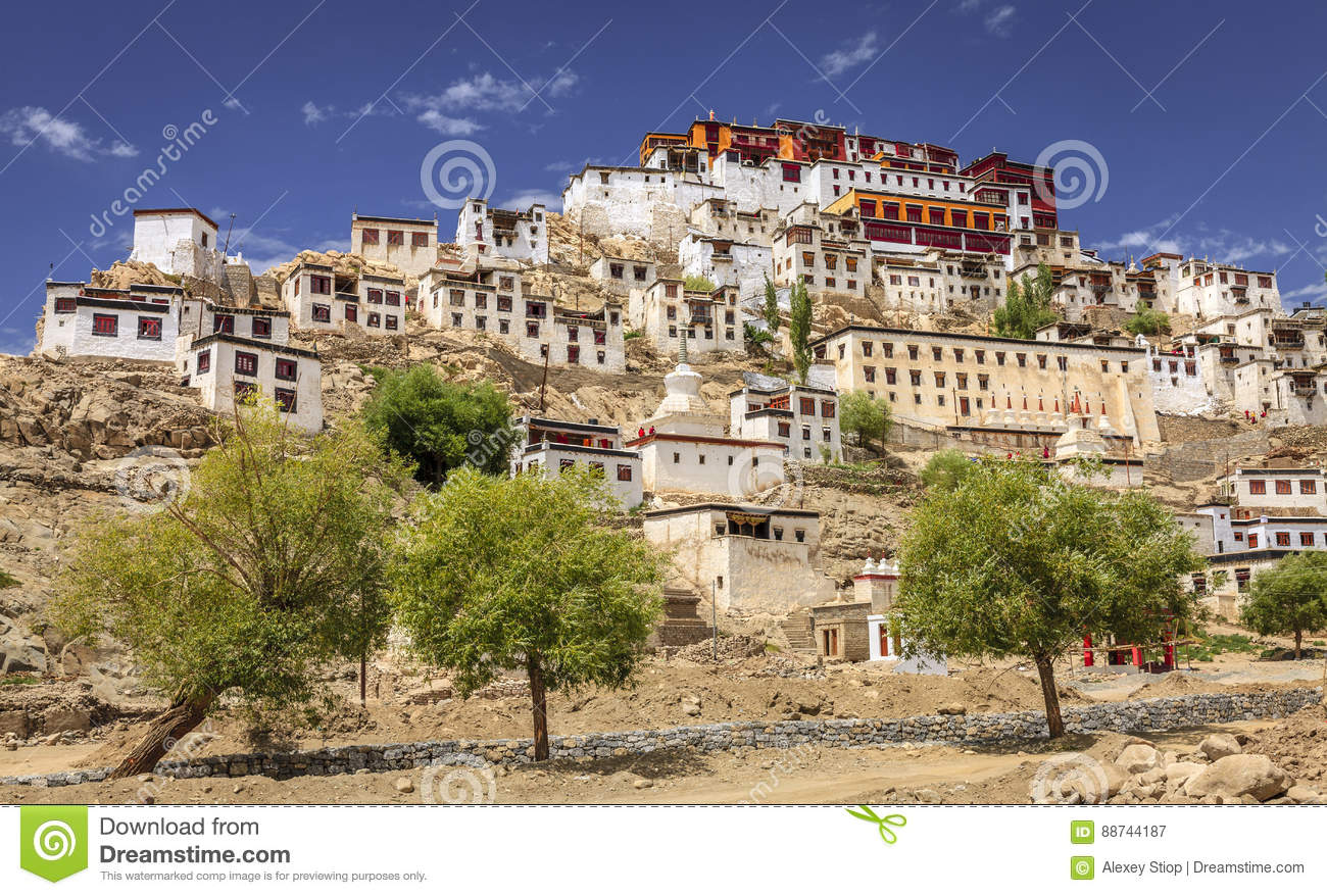 Download Thikse Monastery stock image. Image of buddhist, religion - 88744187