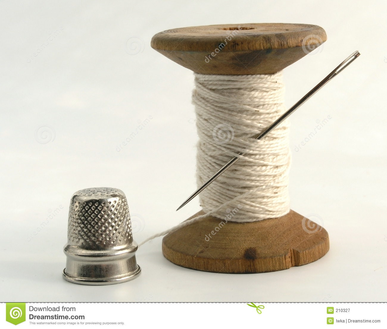 thimble needle and thread royalty free stock photography image 210327. Black Bedroom Furniture Sets. Home Design Ideas