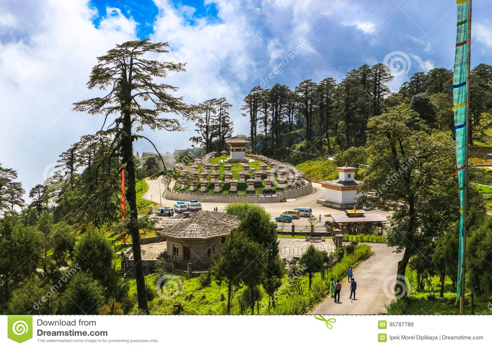 Thimphu Bhutan 10 September 2016 Druk Wangyal Khangzang Stupa