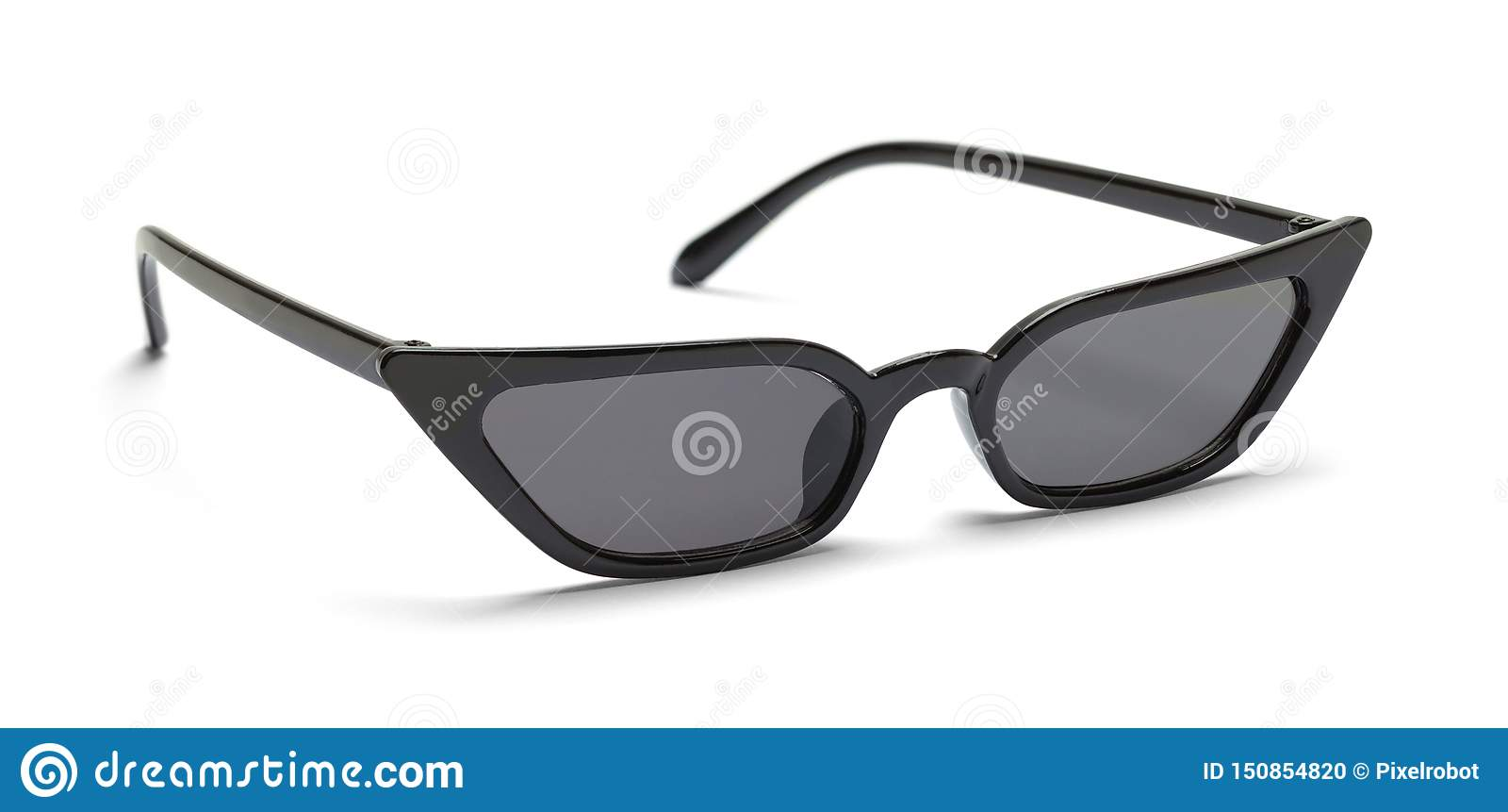 Black Pointed Sun Glasses
