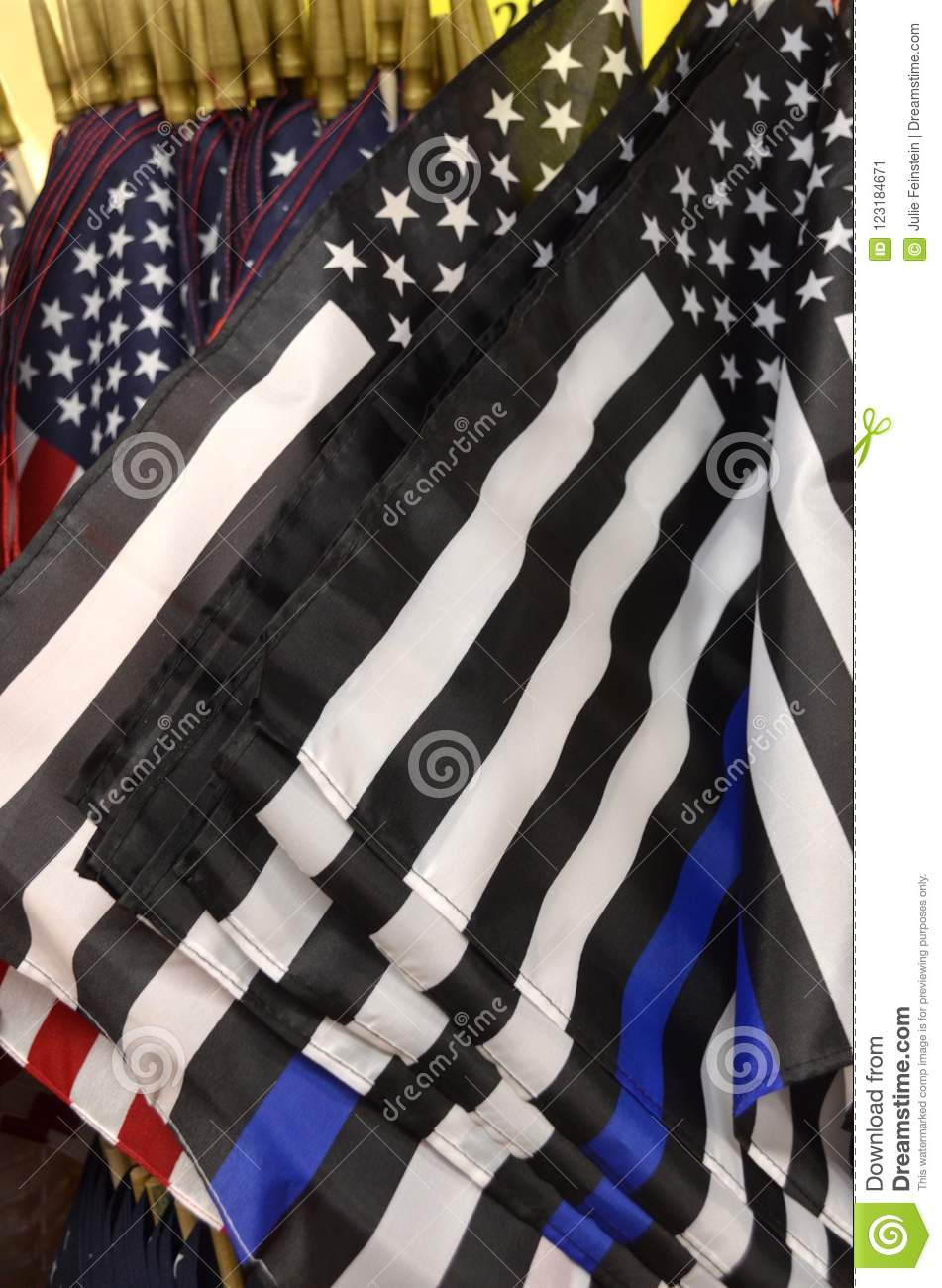 c78aa5c2f5f0 thin blue line flags american flags black white stripes one blue line  represent support law enforcement with black white and blue american flag