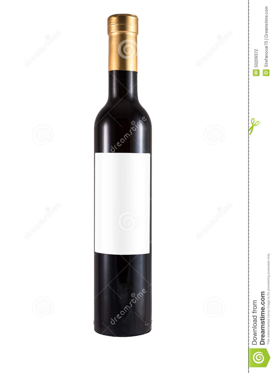 Wine Bottle With Blank Label Royalty-Free Stock Photo ...