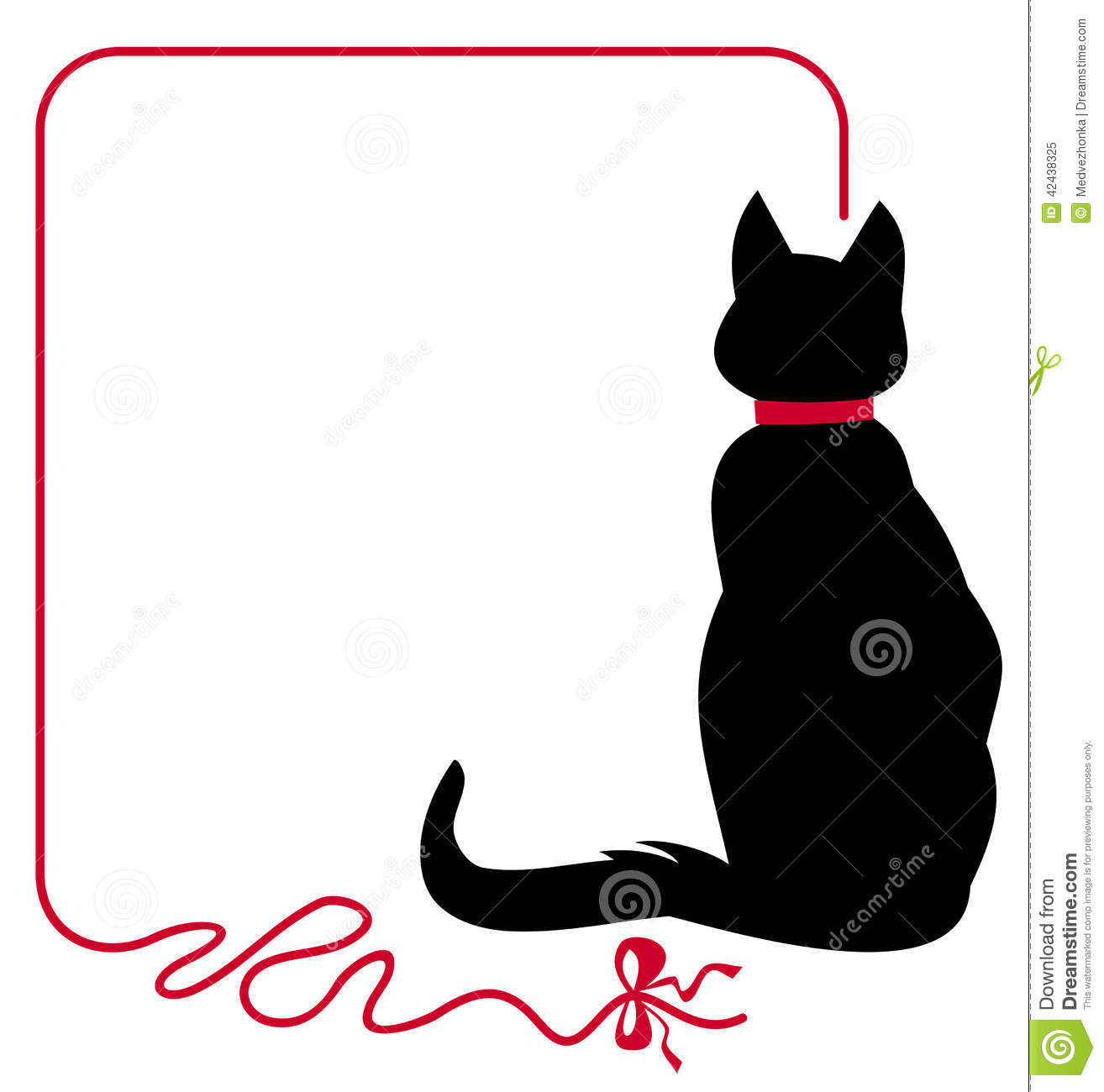 thin frame with black cat