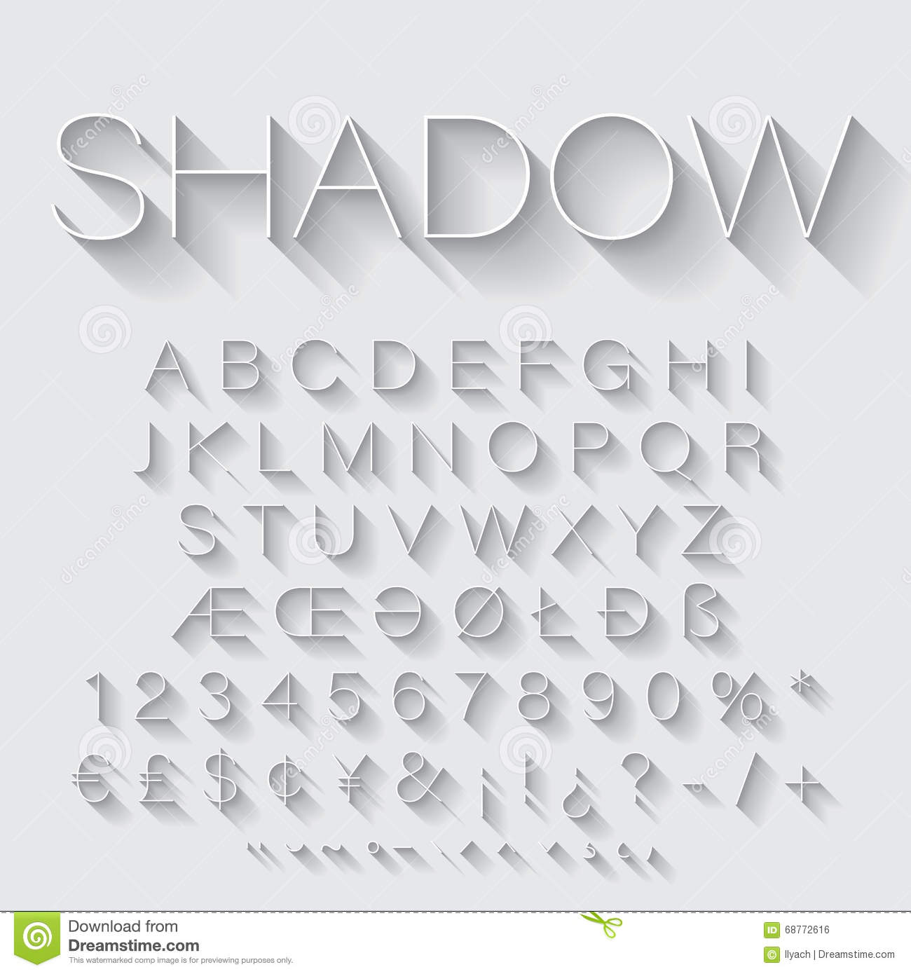 how to add shadows to letters