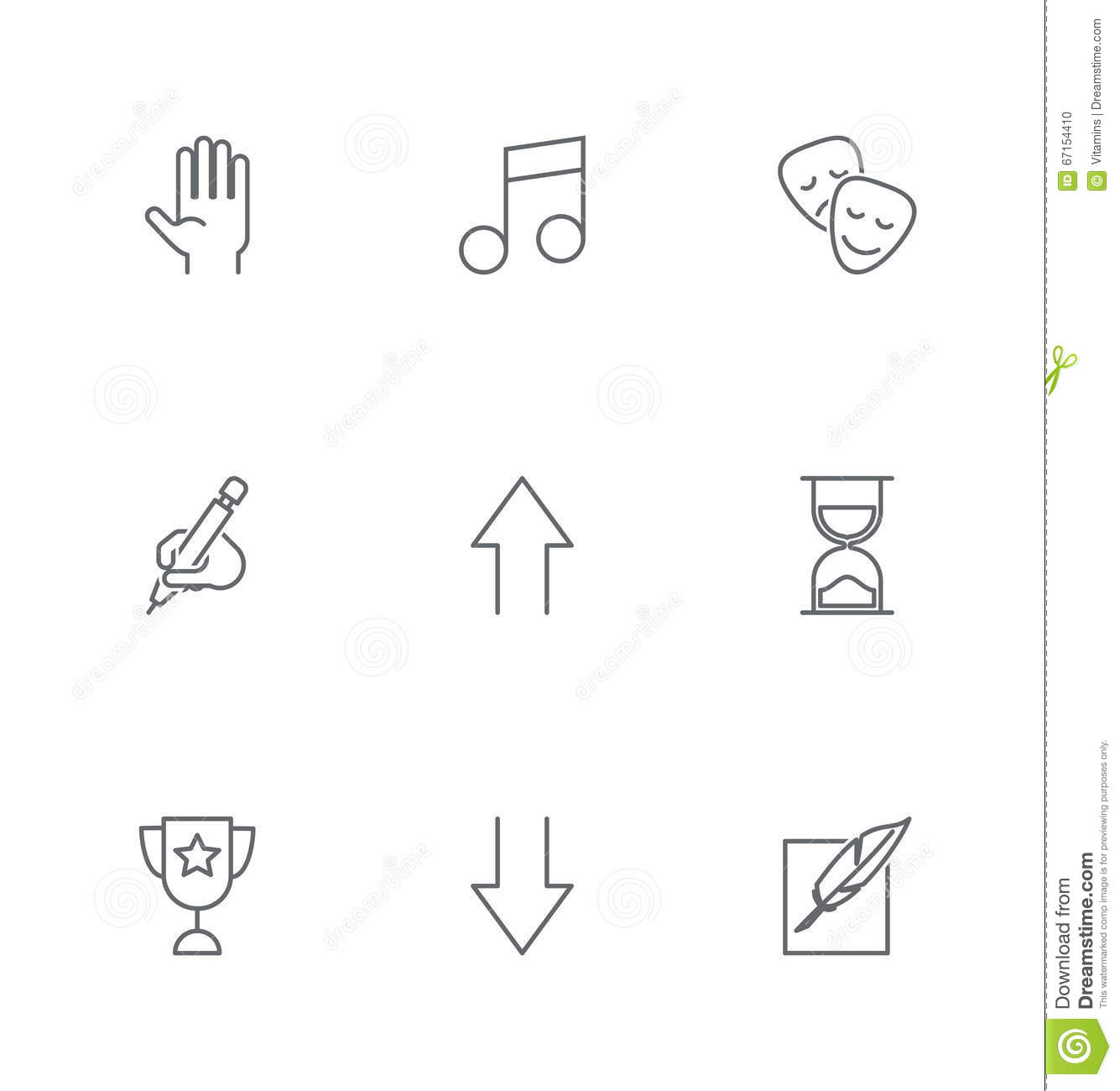 thin line design vector universal pen icon  elements for