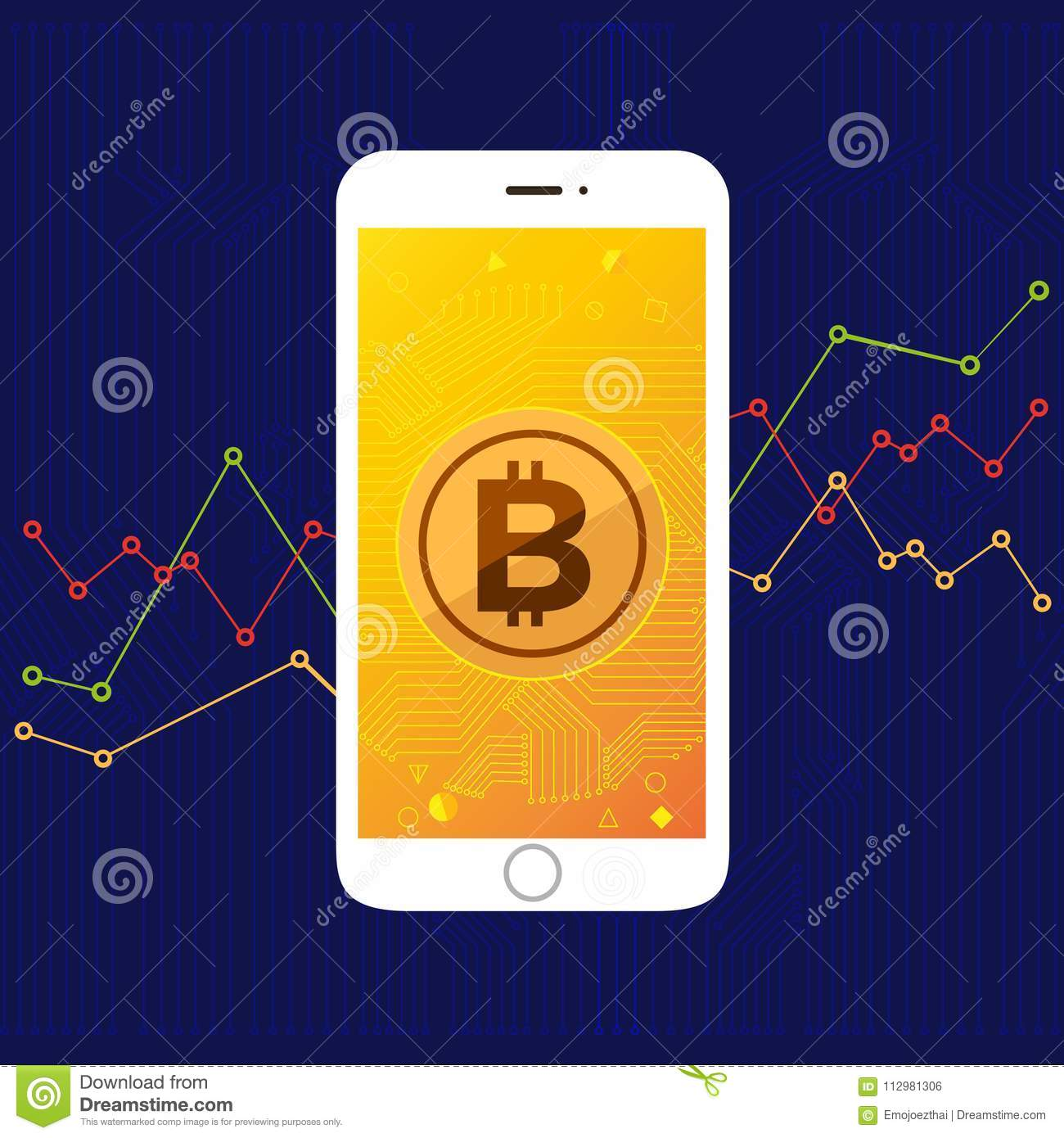 "Thin line icon layout design flat design concept ""bitcoin""."