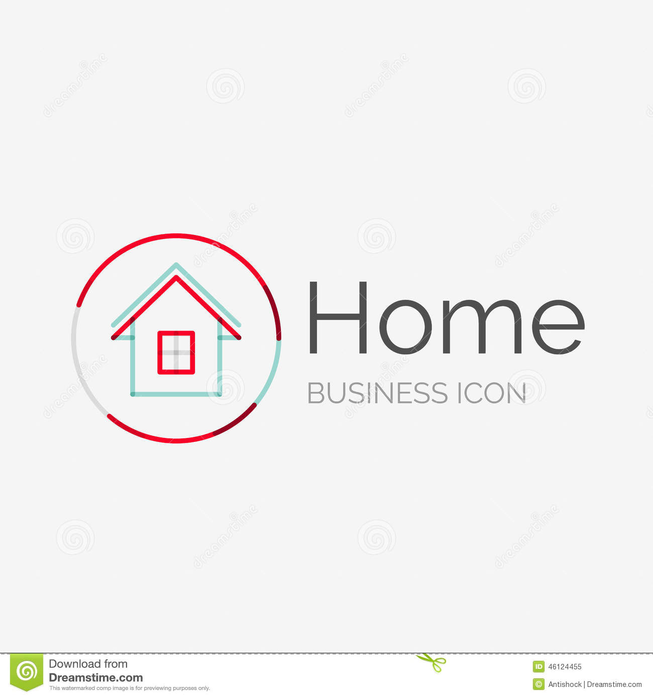 Thin line neat design logo home idea stock vector image for Modern house logo