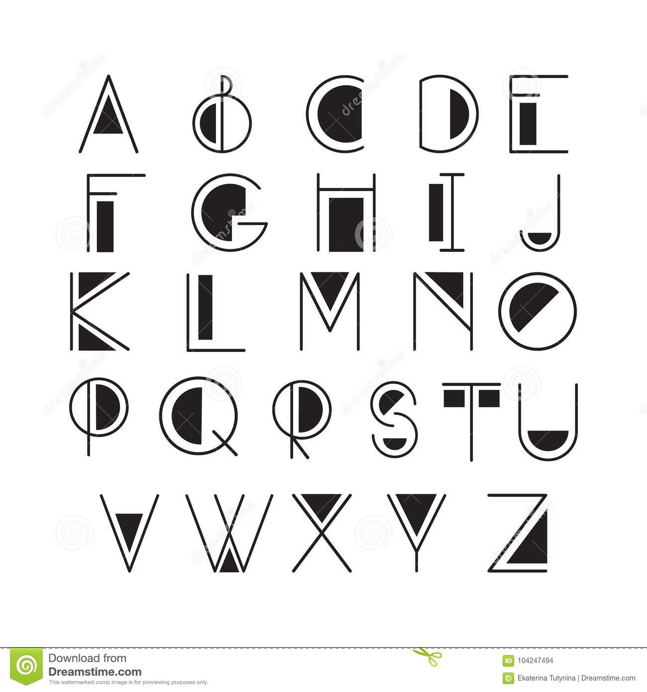 Thin line style, linear modern font, typeface made in minimalistic style.