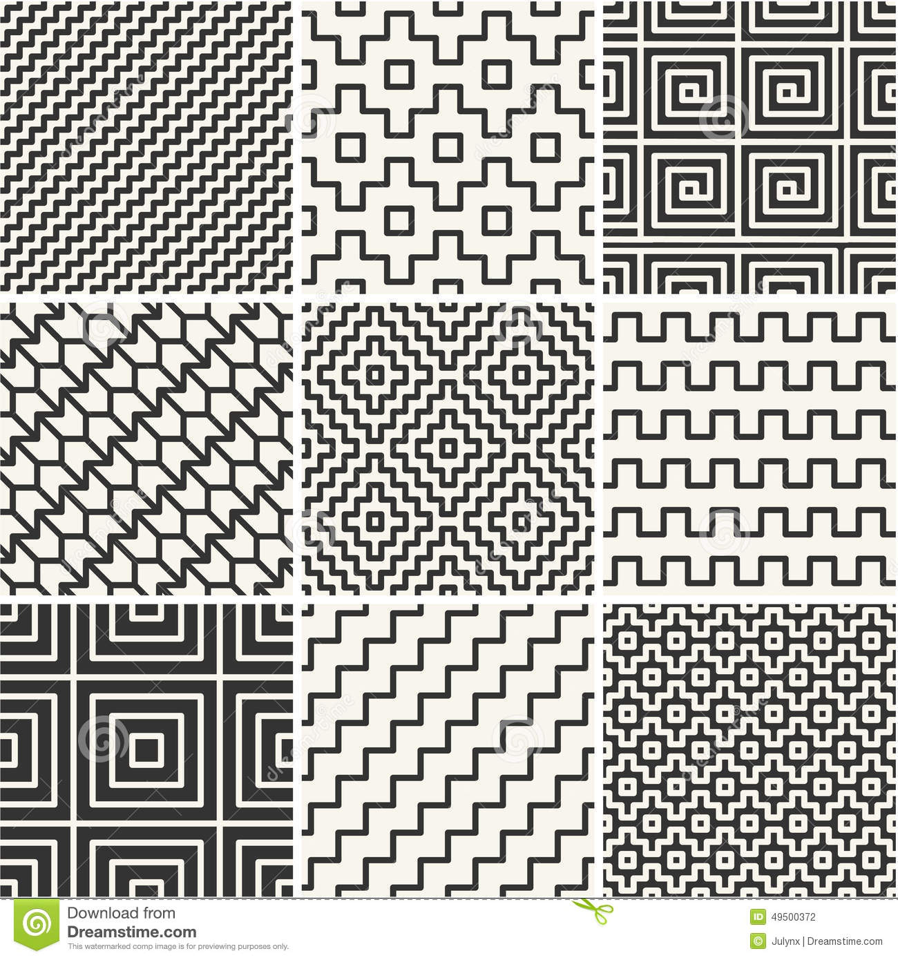 Simple Line Art Example : Thin lines backgrounds with simple patterns stock vector
