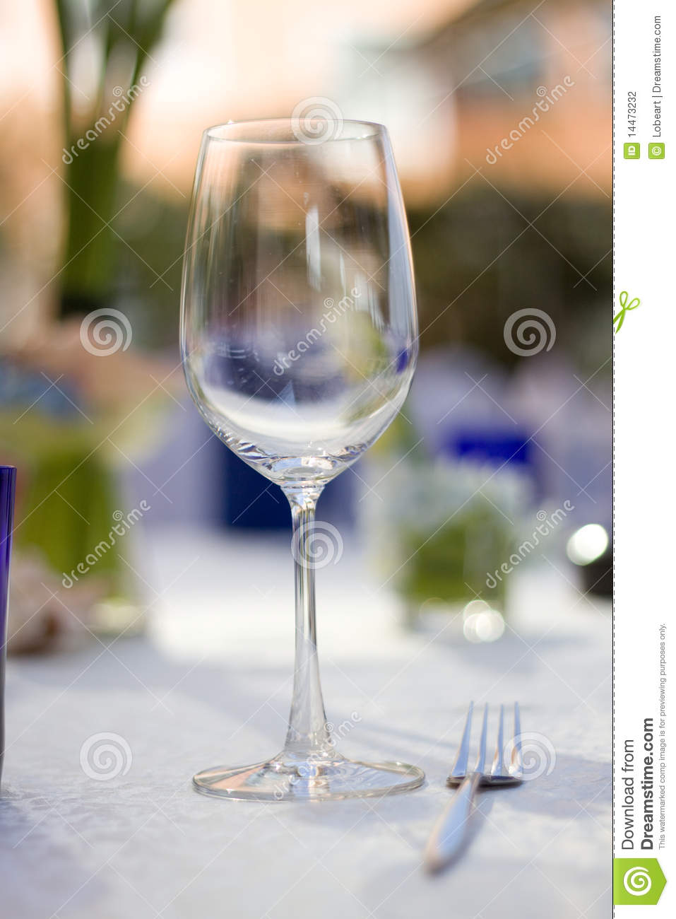A thin stemmed goblet stock photo image of knife goblet for Thin stem wine glasses