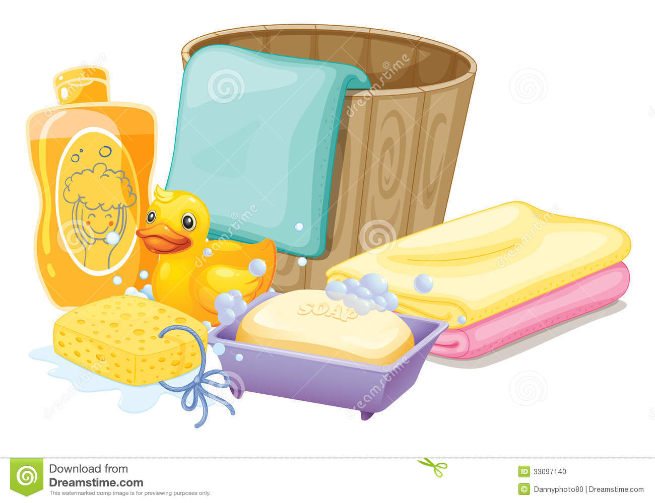 Things needed in taking a bath stock vector image 33097140 for Bathroom things