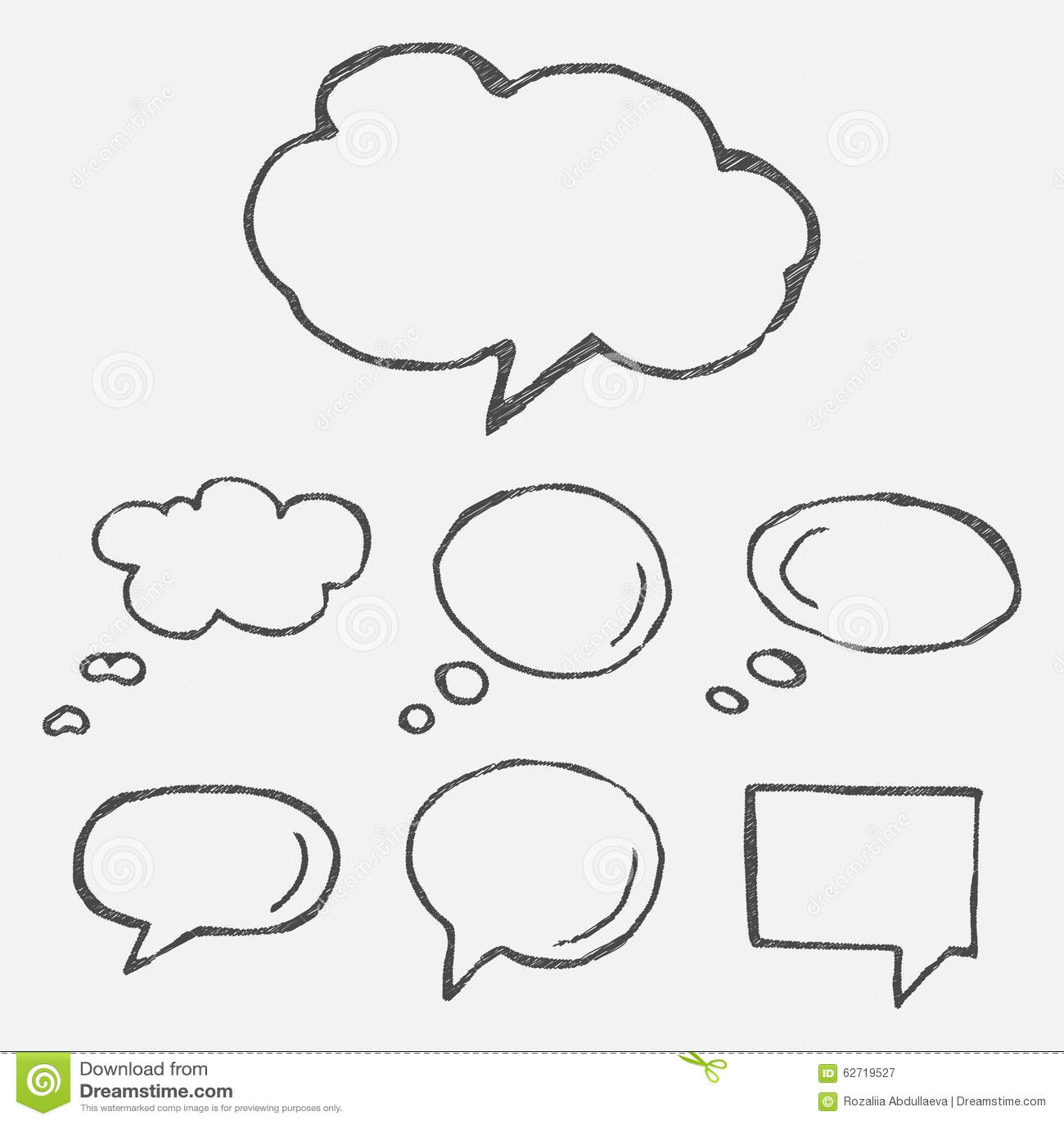 Think cloud symbols stock vector. Illustration of cloud ...