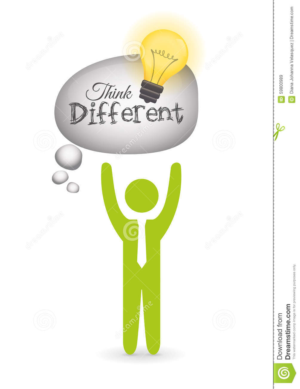 Think Different Design Stock Illustration Image 59800989